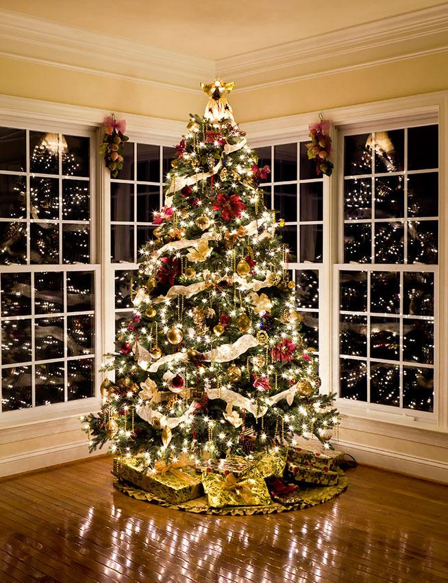 Christmas Tree Decorated.Interior Exterior Home Design Xmas Tree Decorating Ideas