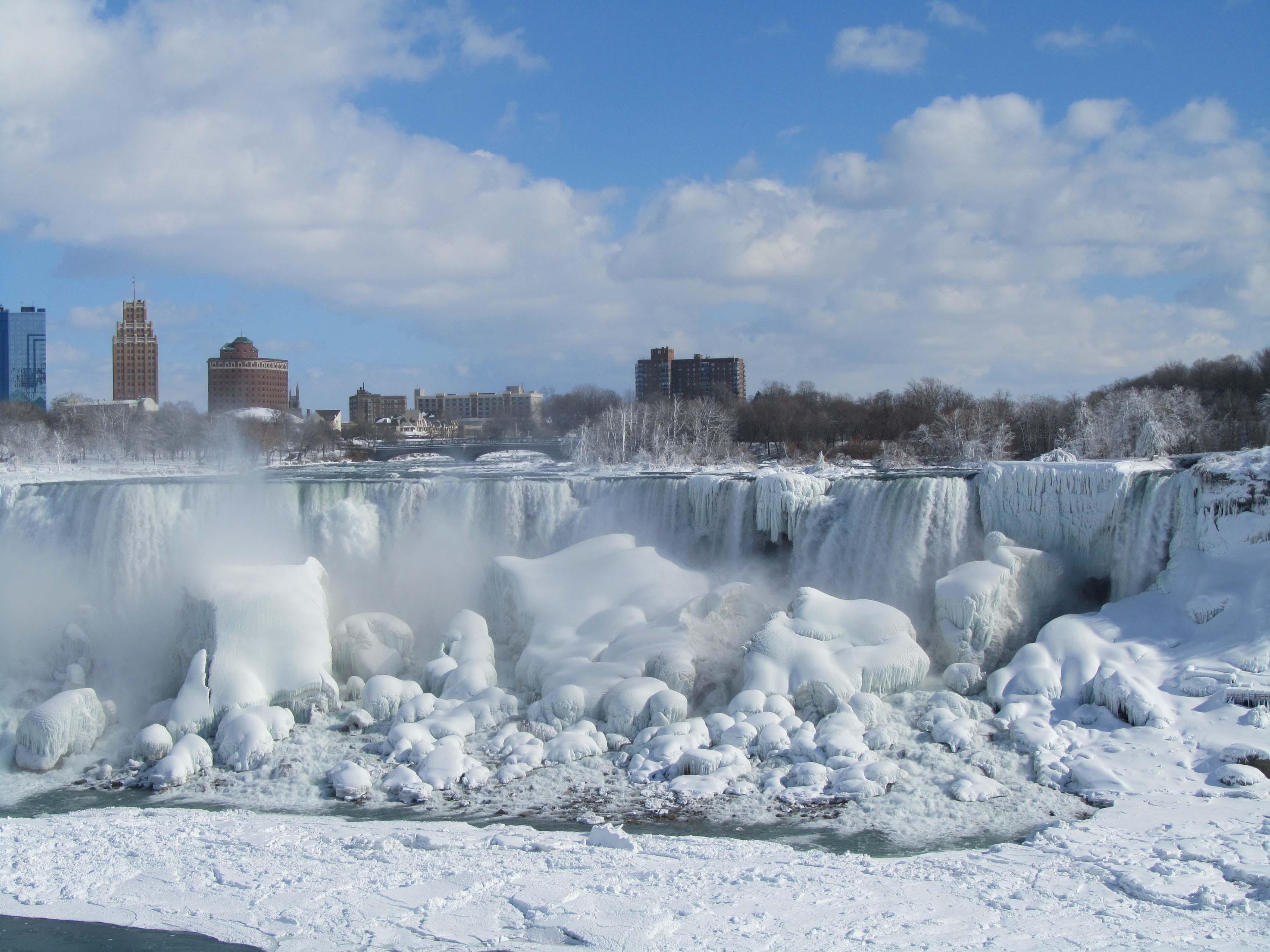 Frozen Niagara Falls Canada Desktop Background Wallpapers