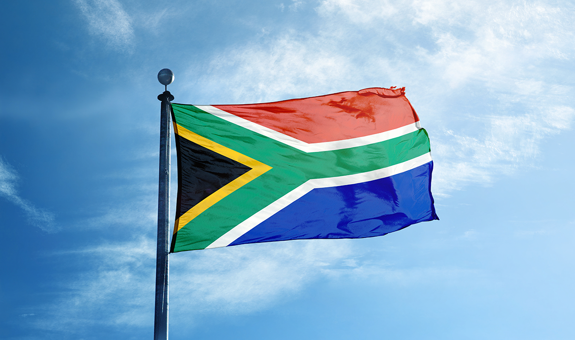 Hoisting South Africa National Flag Waving Pics Download