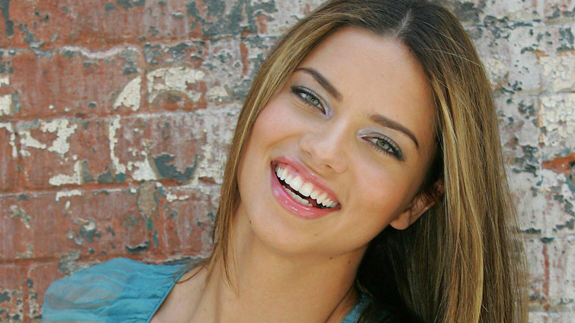 amazing adriana lima smiling face look background free desktop hd mobile images