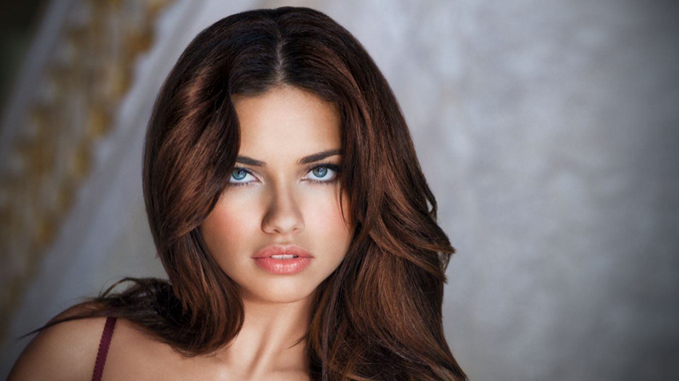 lovely adriana lima eye look desktop background free hd mobile wallpaper