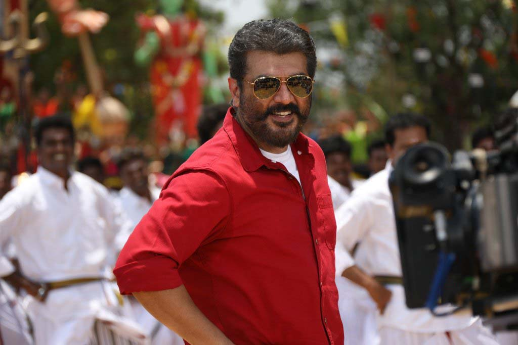 ajith in viswasam red shirt dancing look photos hd download