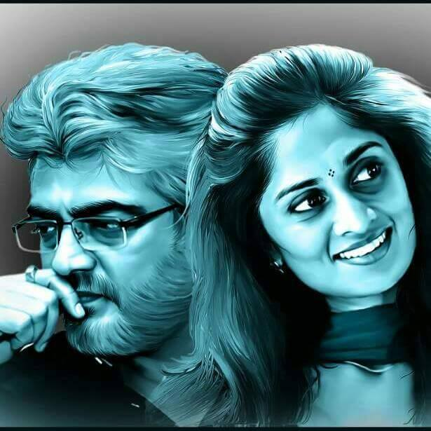 Ajith Thala With Shalini Mobile Desktop Art Free Hd Images