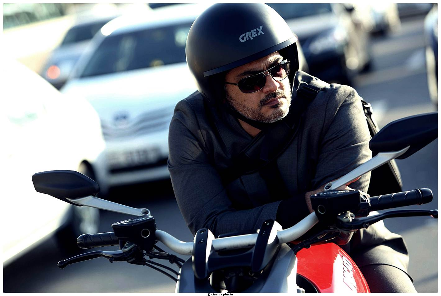 free hd thala ajith lovely bike still in aarambam mobile desktop background mass photos