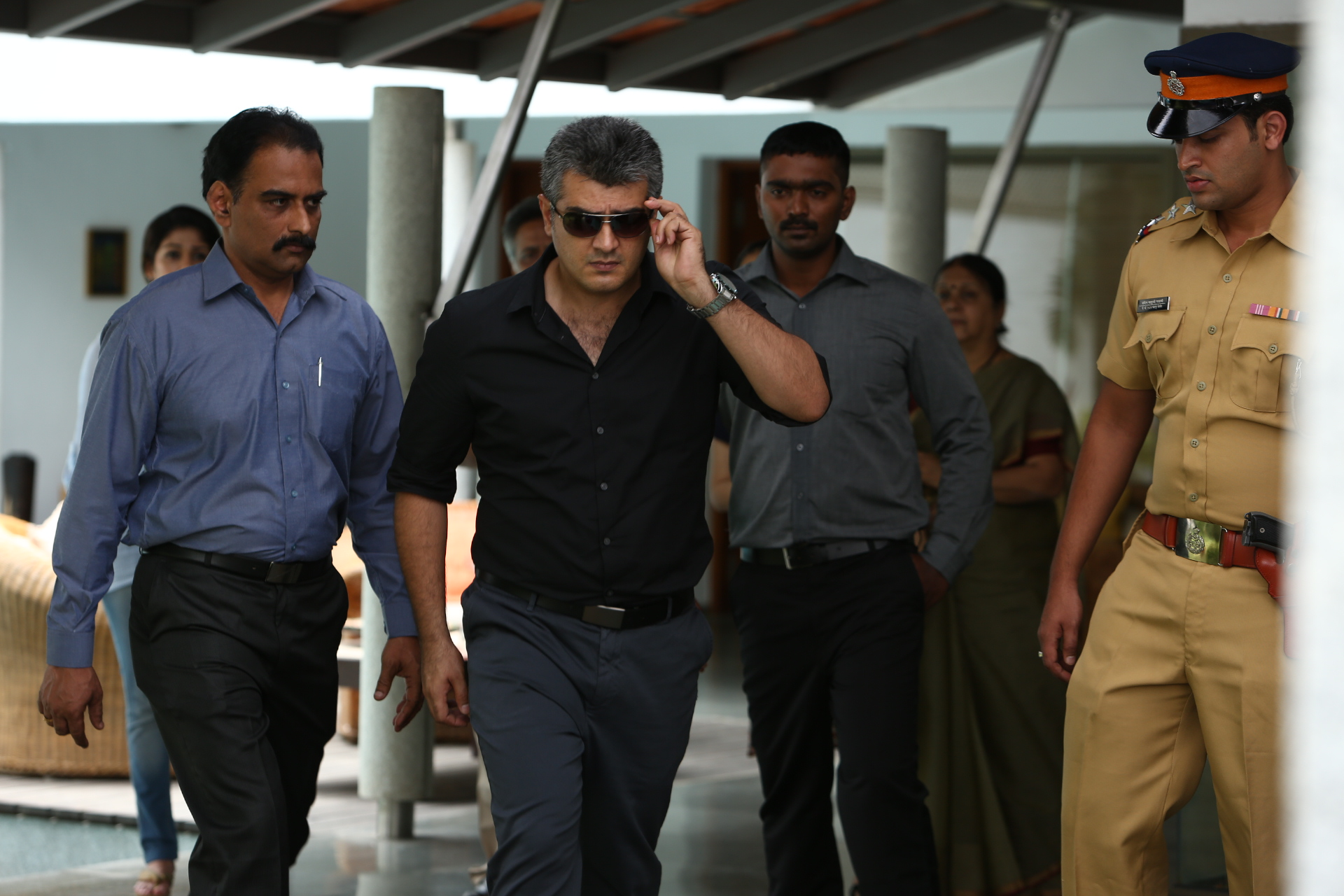 free hd thala ajith stylish look mobile desktop background mass walk scene photos