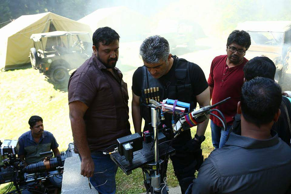 hd thala ajith desktop background vivegam working stills in thalapic images