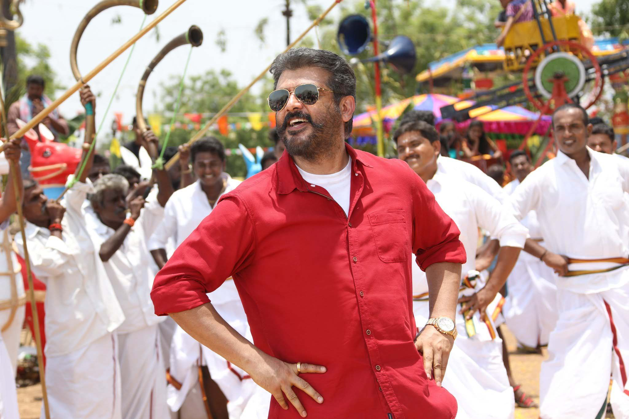 Ultimater Star Ajith In Viswasam Latest Movie Wallpapers Free Download