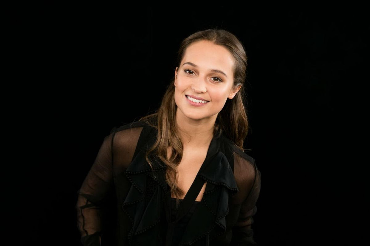 cute alicia vikander smiling face still free mobile desktop background photos hd