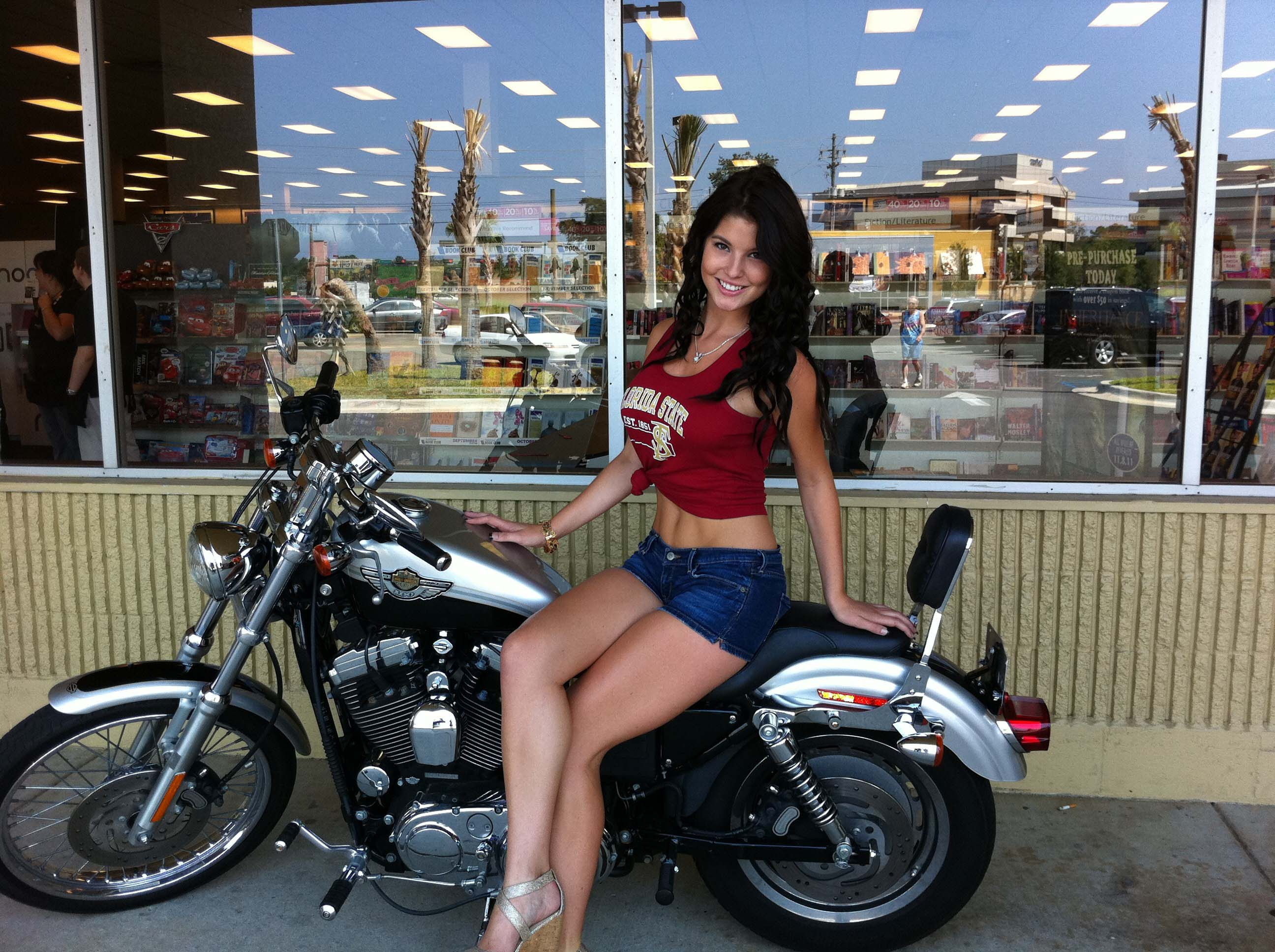 Stunning Amanda Cerny Hd Bike Free Desktop Mobile Images