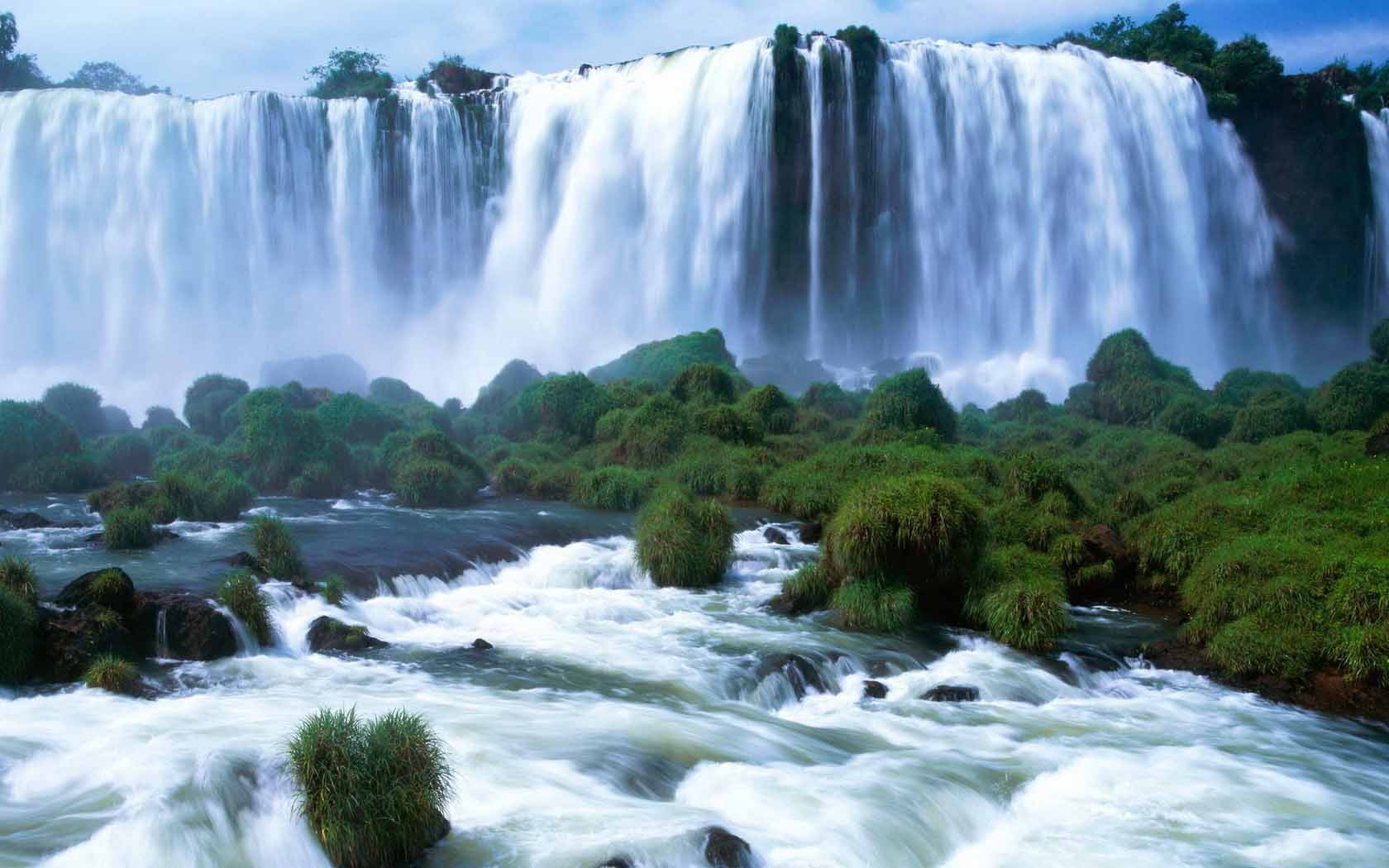 amazing water falls plesant river water desktop images picture