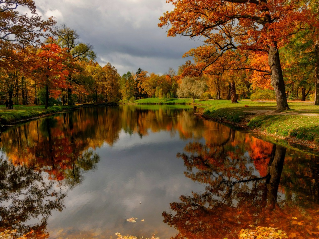 Beautiful Desktop Autumn River Backgrounds Items Images Pics