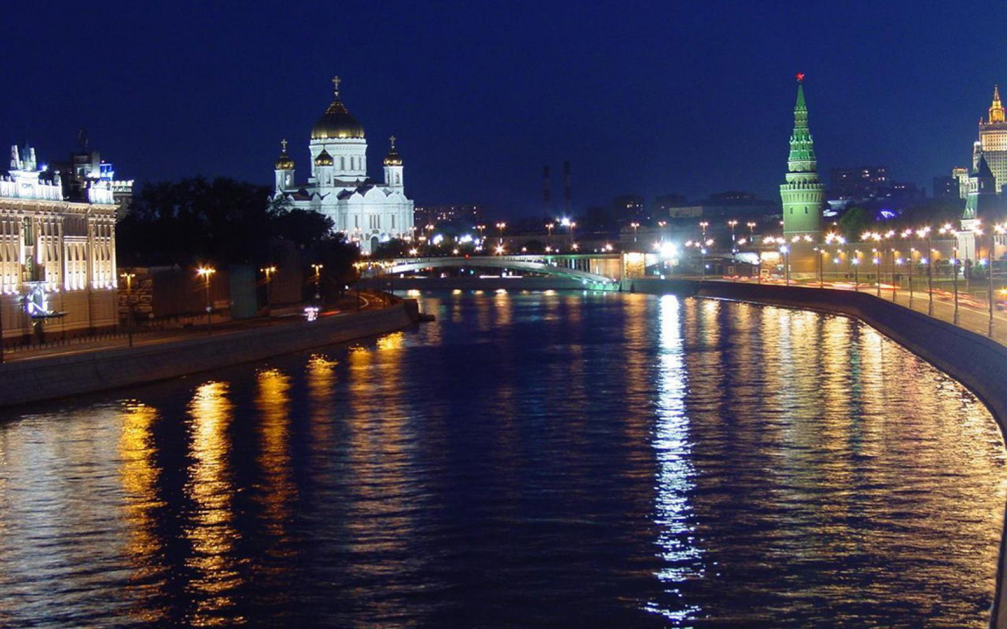 hd moskva night river wallpaper images picture
