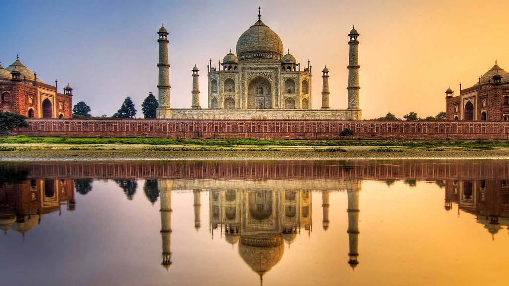 wonders of tajmahal at yamuna rivers wallpaper images picture download