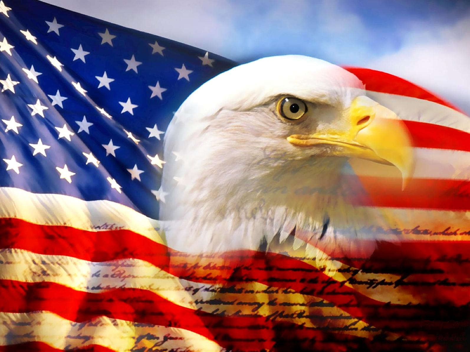 hd pictures of american flag with eagle
