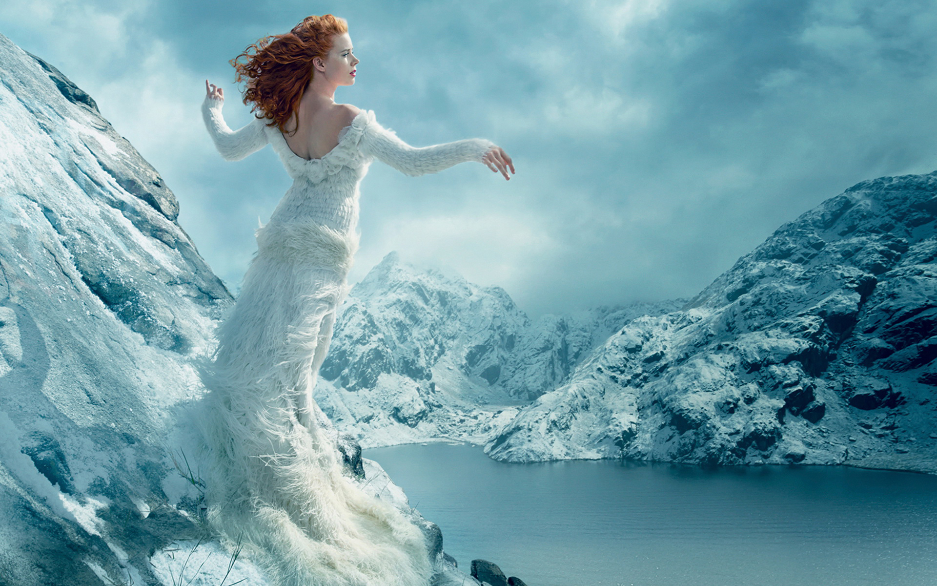 amazing amy adams wonderful snow flow pose still background desktop hd mobile wallpaper free