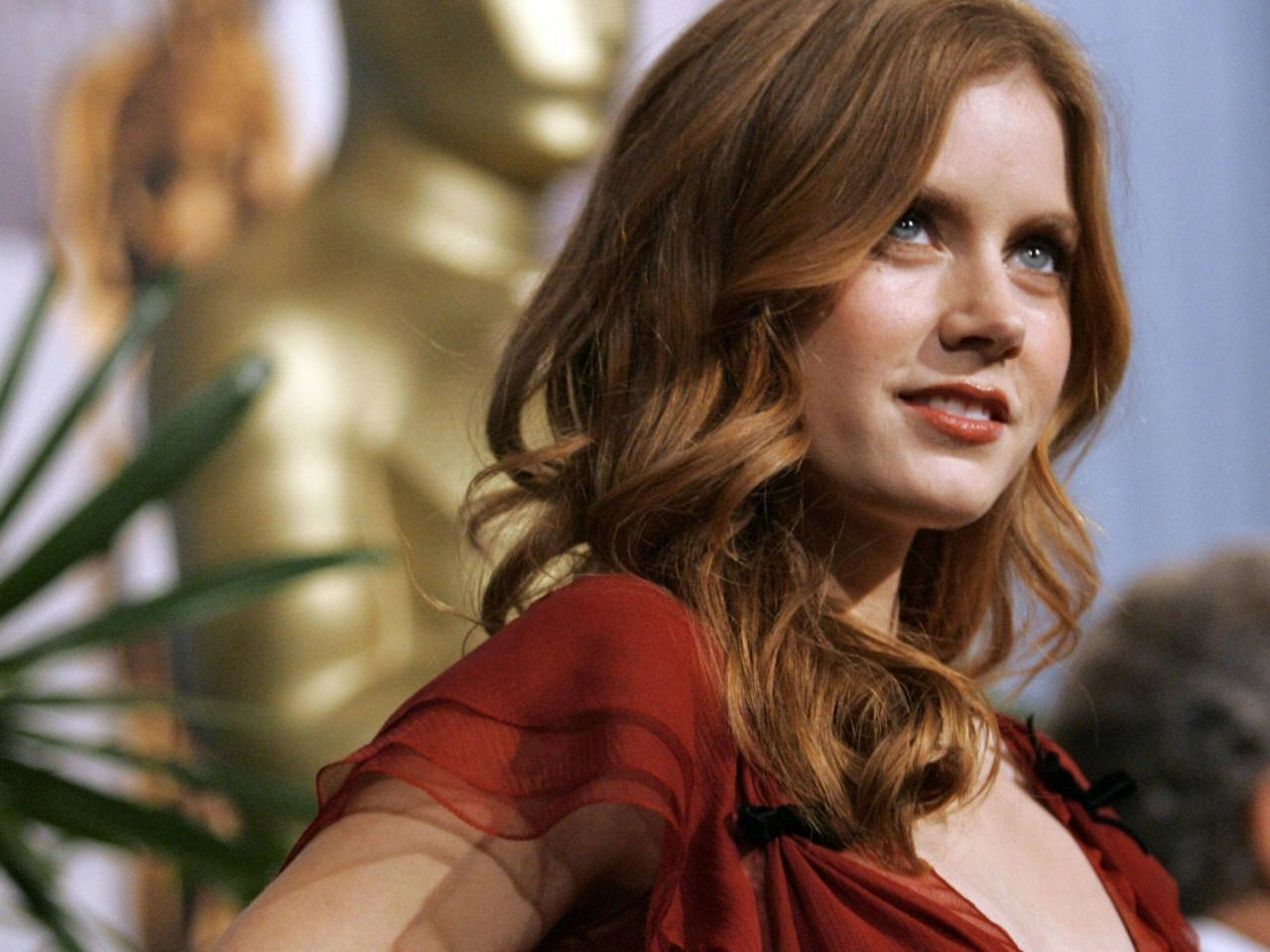 Lovely Amy Adams Beautiful Side Look Still Background Desktop Hd Mobile Free Pictures