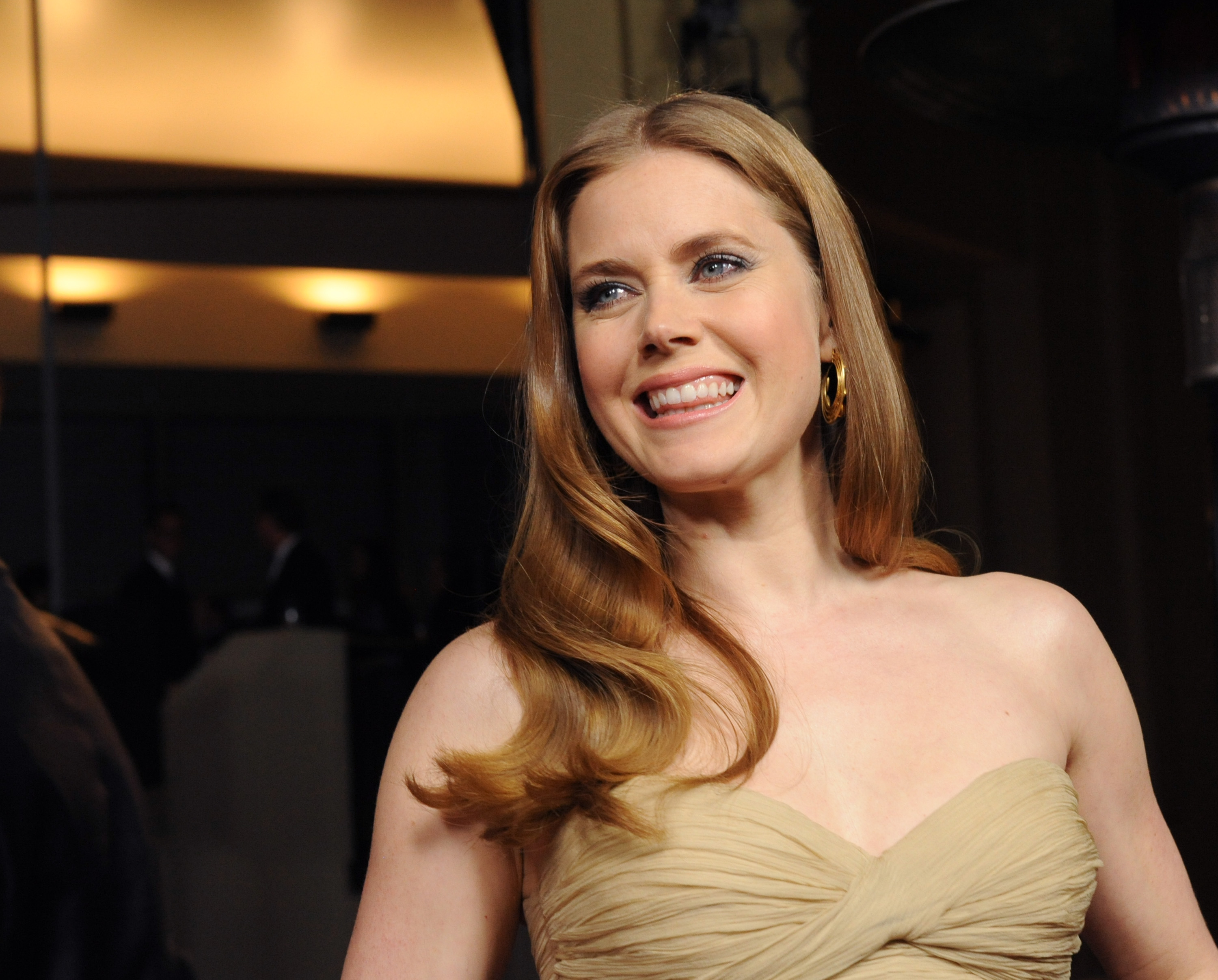wonderful amy adams beautiful smile look face hd background free mobile download wallpaper