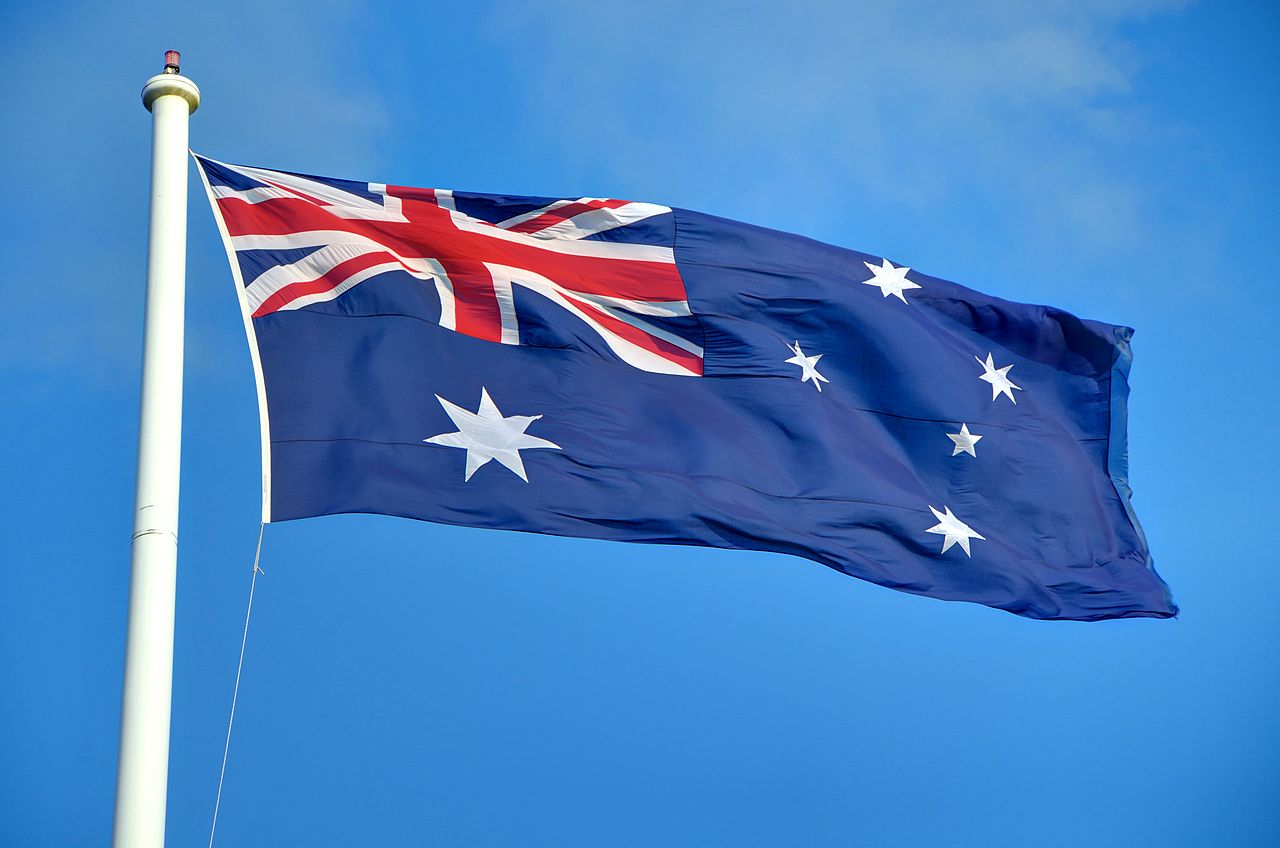 flag of australia hoisting height pictures