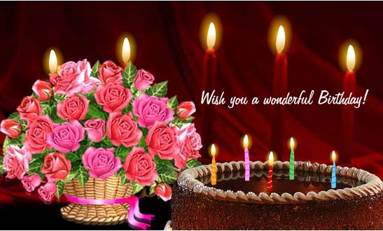 downoad free wonderful roses birthday greetings