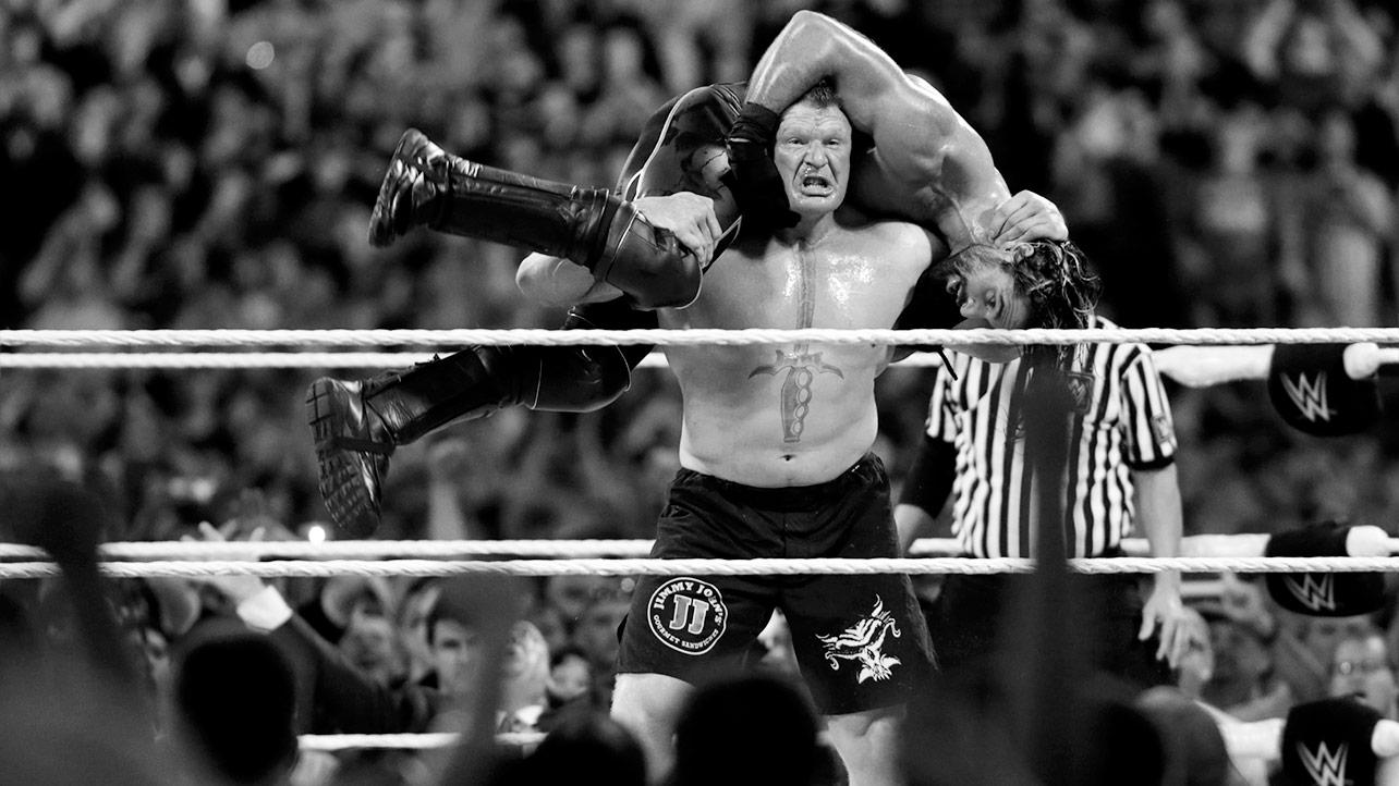 Brock Lesnar Fight Wwe Hd Wallpaper