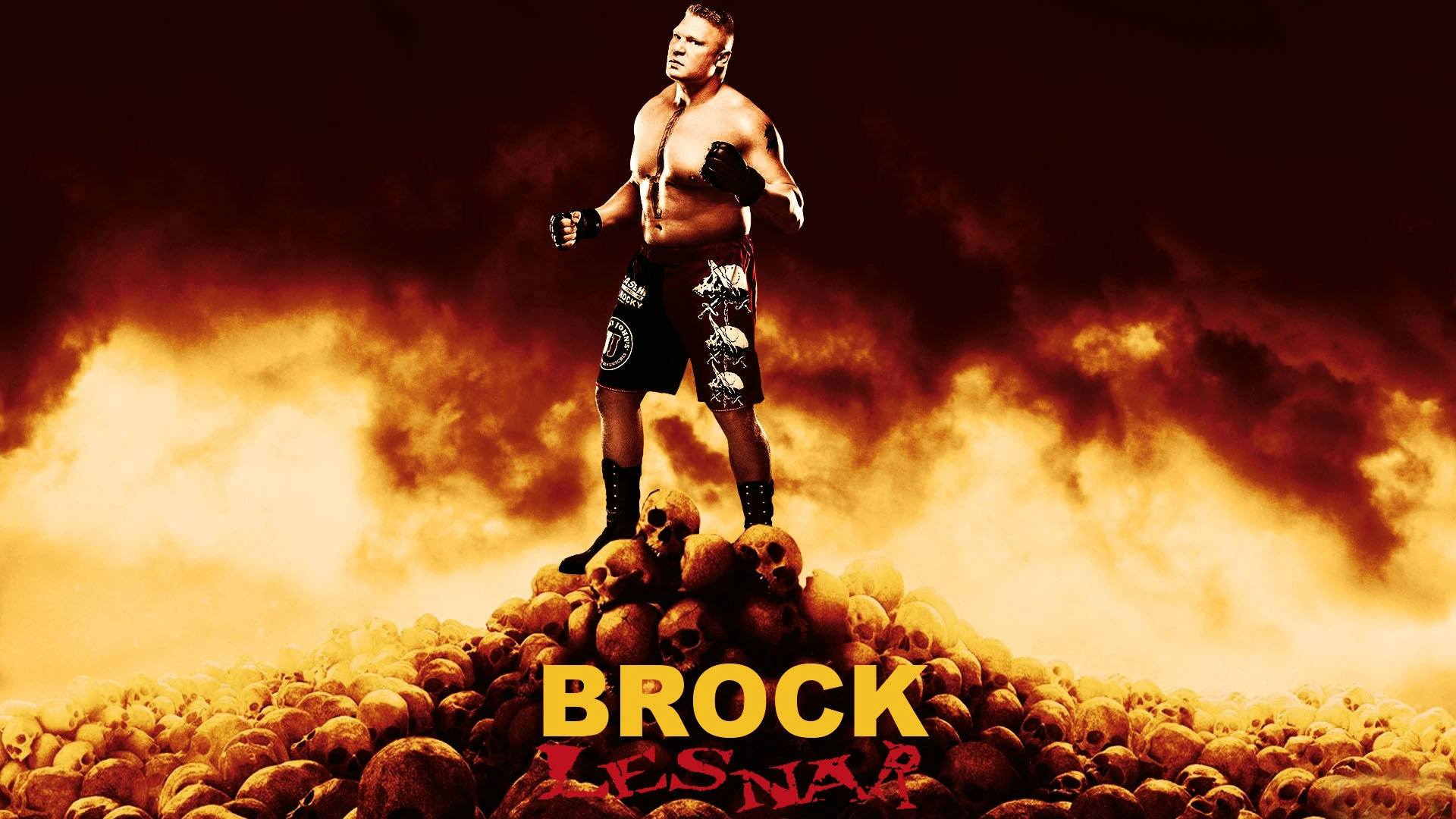 Wwe Brock Lesnar Widescreen Hd Wallpaper