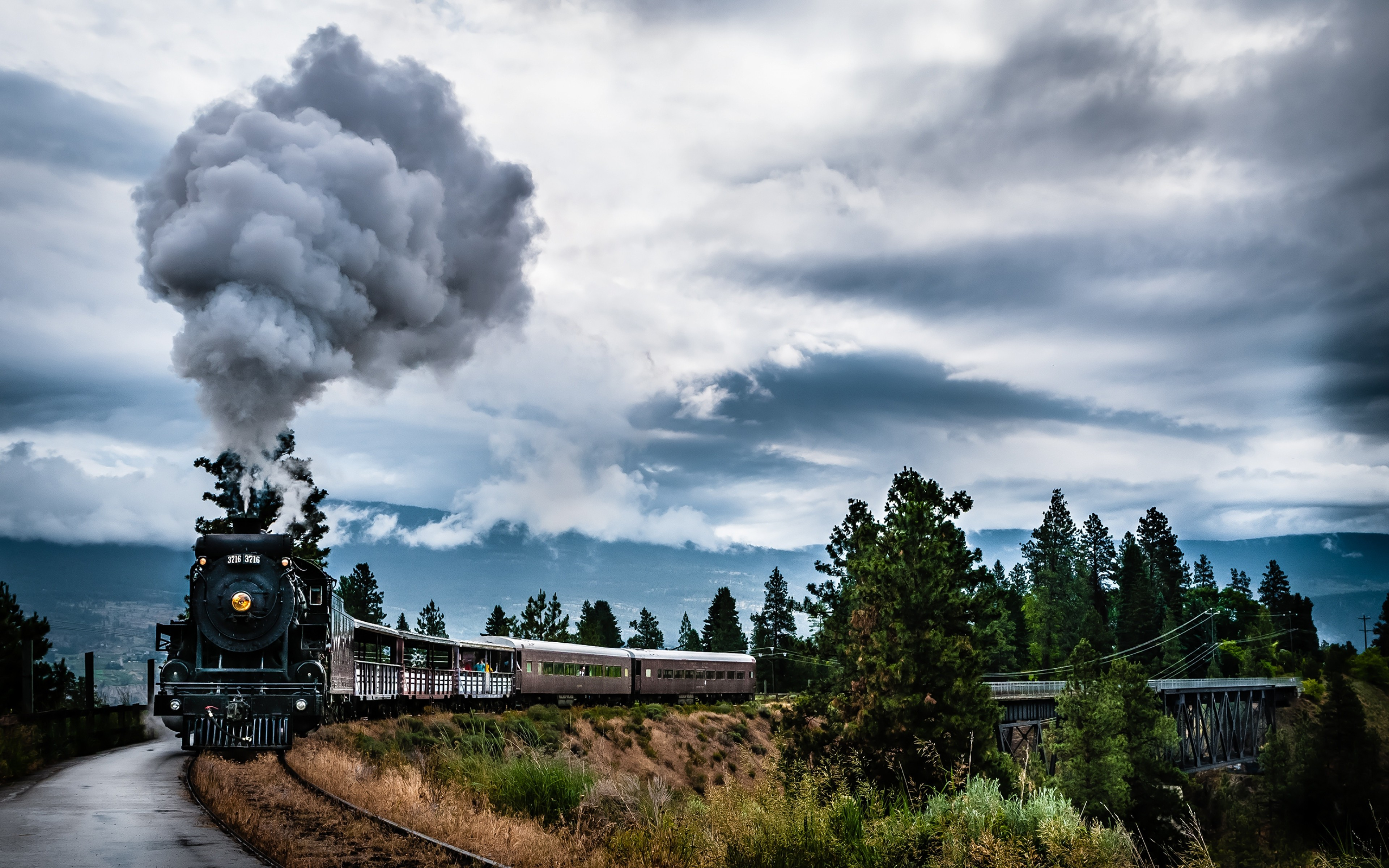 canada train steam engine wallpaper
