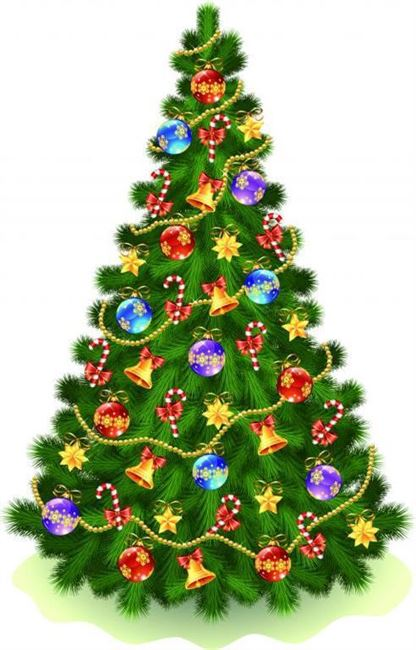 light transparent christmas tree animated pic
