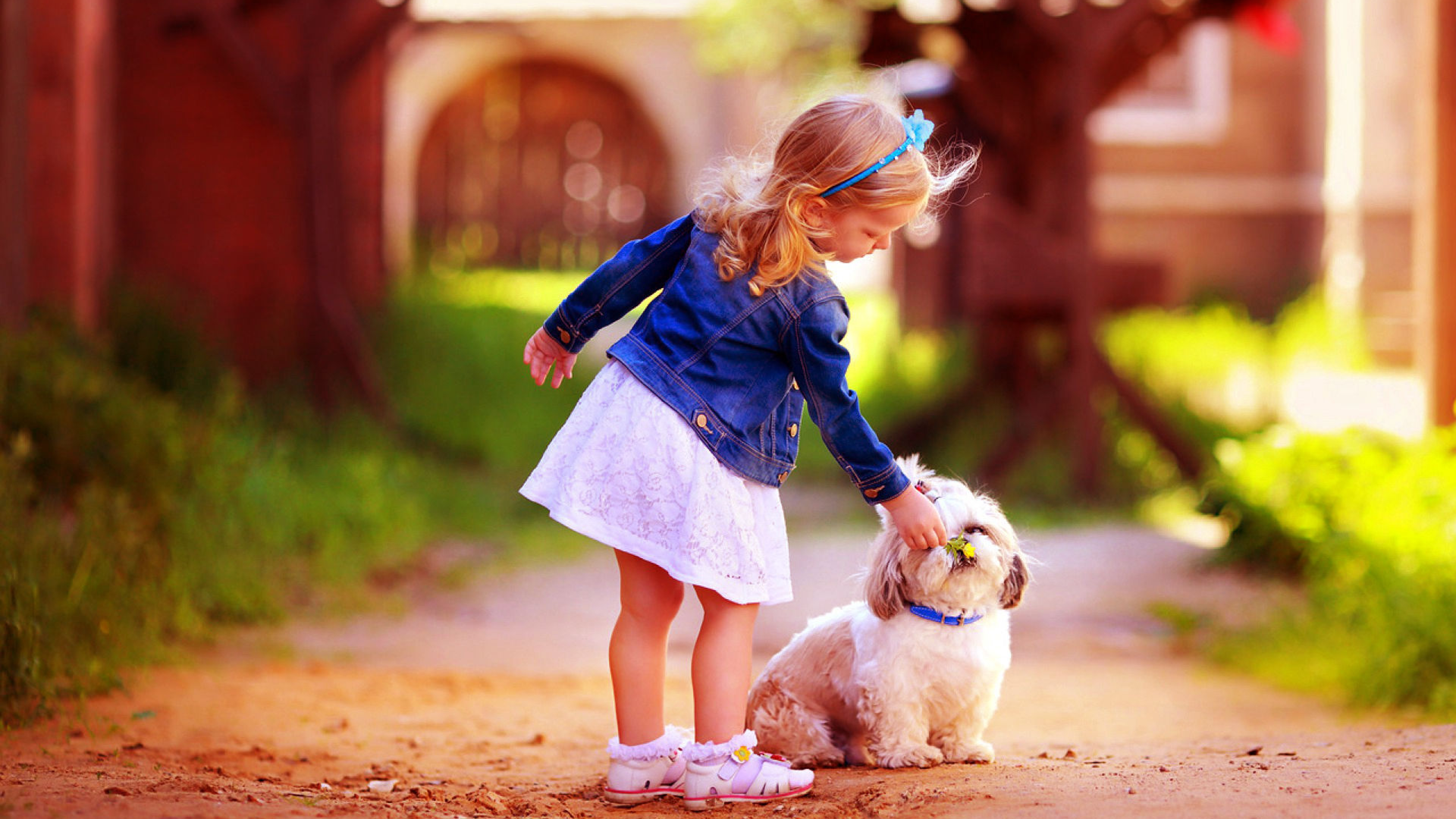 Dog With Lovely Kids Attractive Images