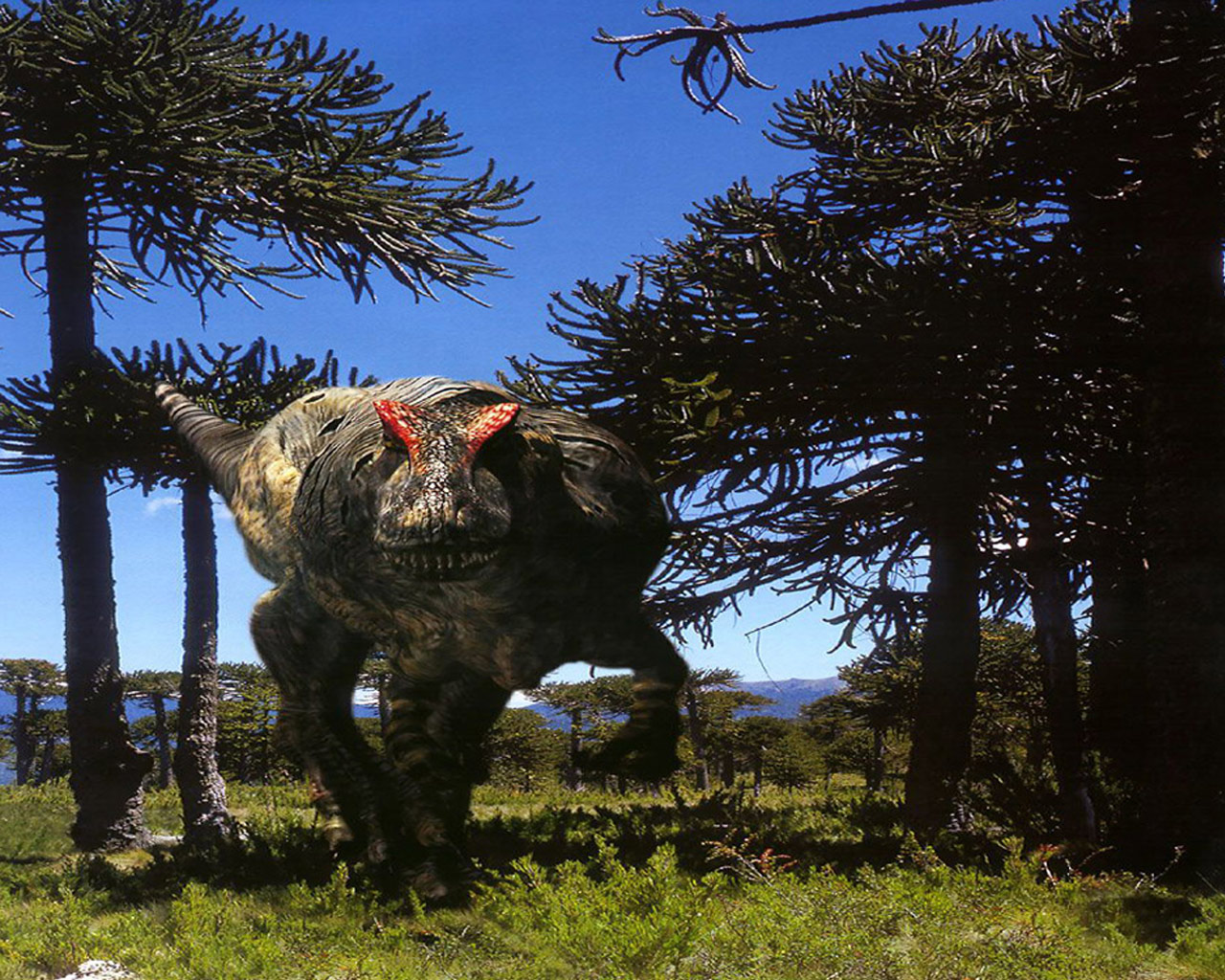 widescreen dinosaur at forest images