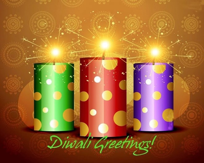 Diwali Crackers Greetings Card And Images Photos Download