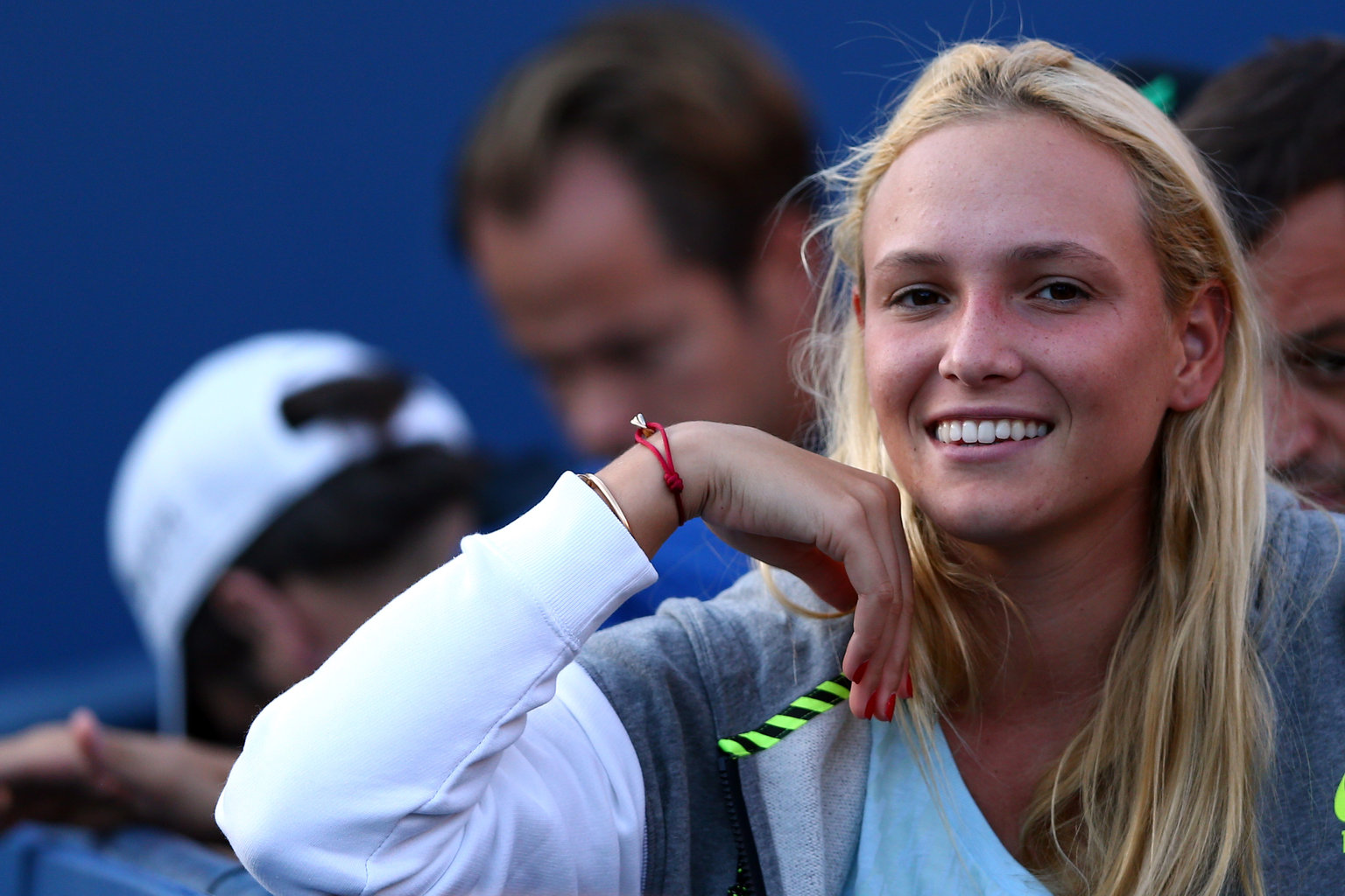 Cute Donna Vekic Beautiful Smile In Stadium Hd Mobile Free Download Background Photos