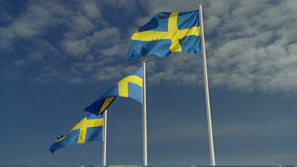 waving sweden flags in wind hd wallpapers download