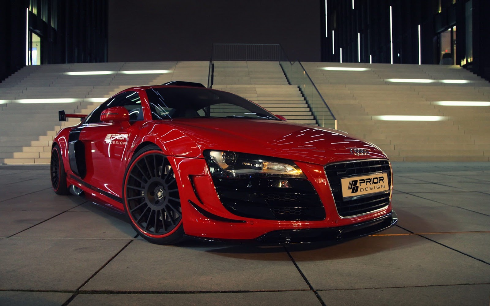 Red Audi Car R8 Latest Pics Mobile Wallpaper