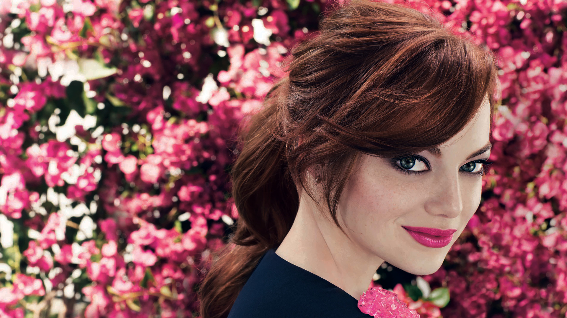 amazing emma stone fantastic look pose with background trees desktop mobile free hd images