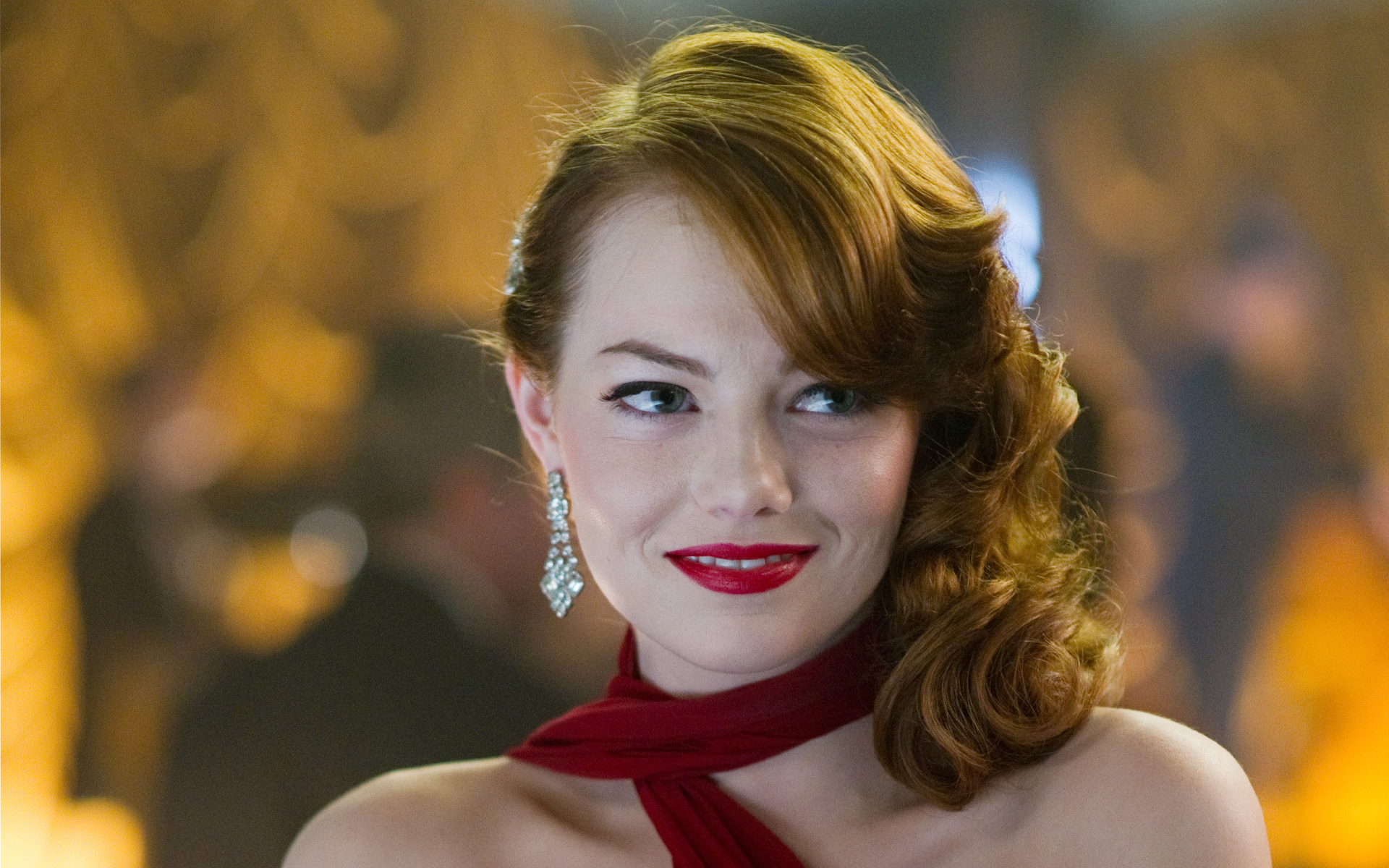beautiful emma stone fantastic smile face with hot look still free mobile hd desktop background wallpaper