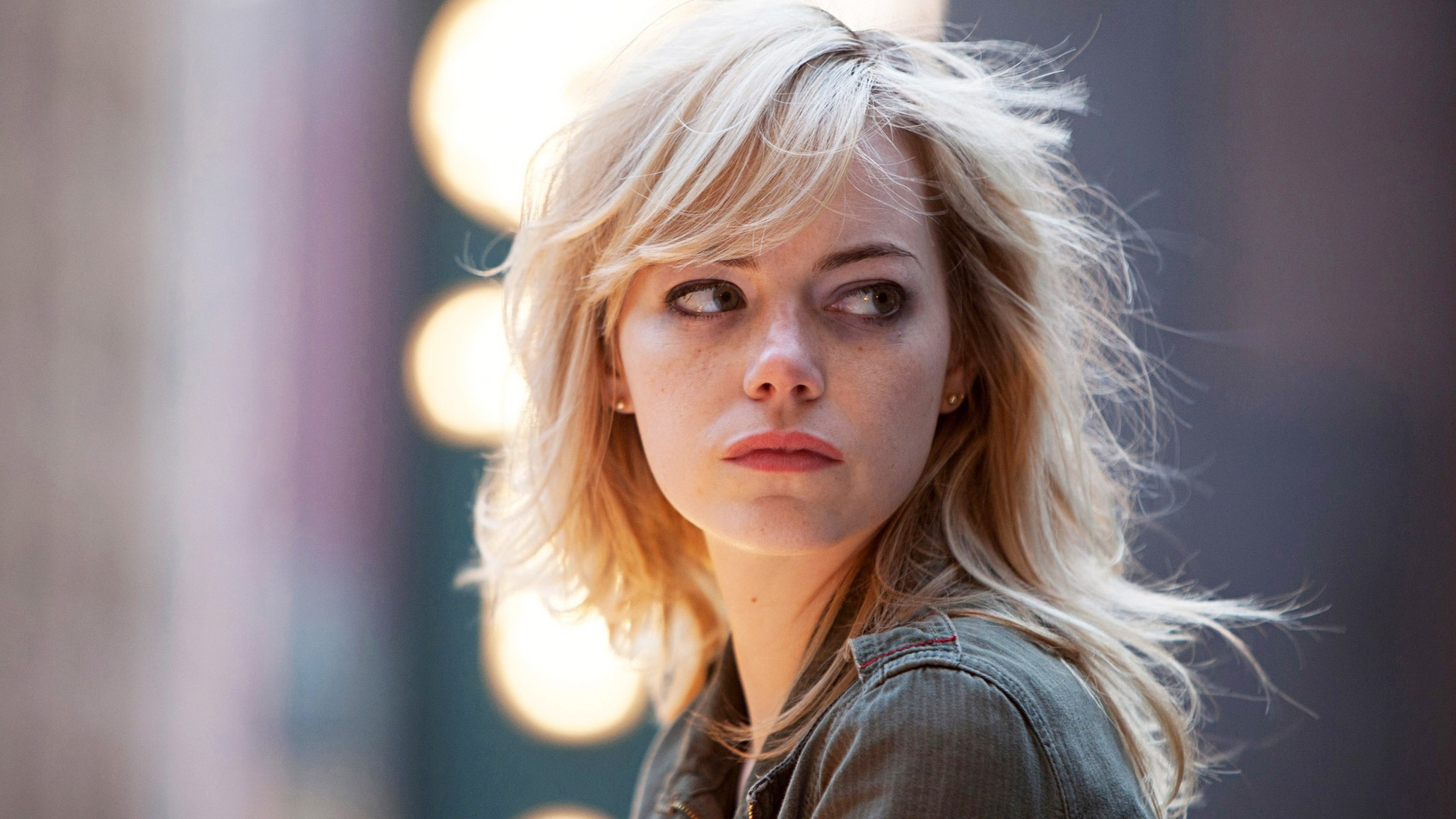 free emma stone lovely side eye look still hd computer desktop pictures background