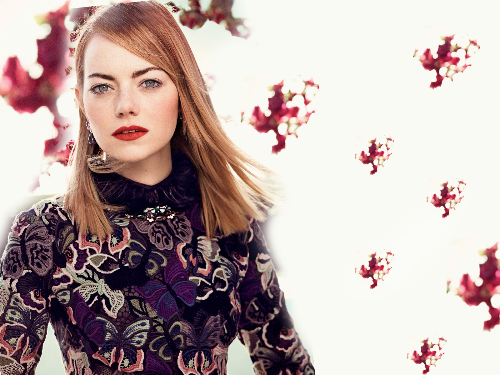 hd emma stone beautiful background design with cute face look pose desktop laptop free wallpaper