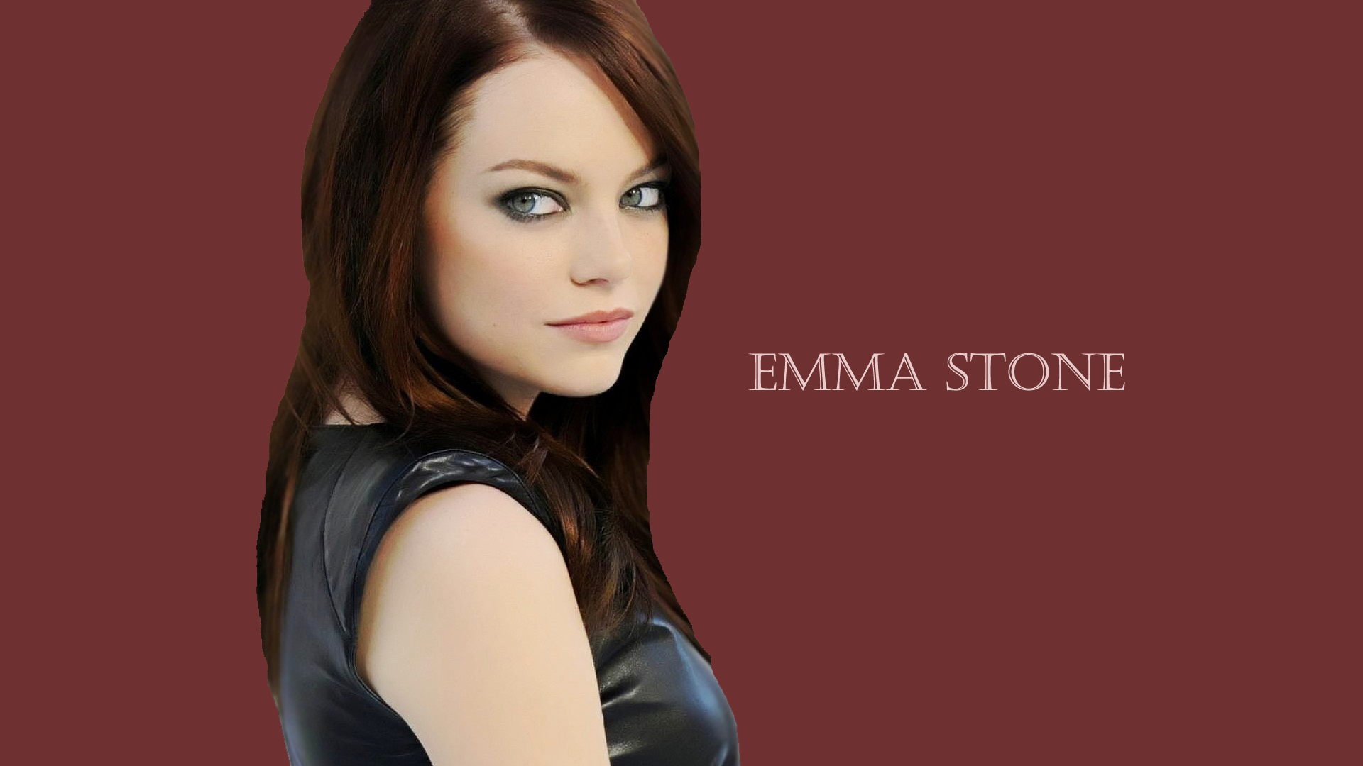 Hd Emma Stone Cute Face Side Look Free Background Laptop Download Photo