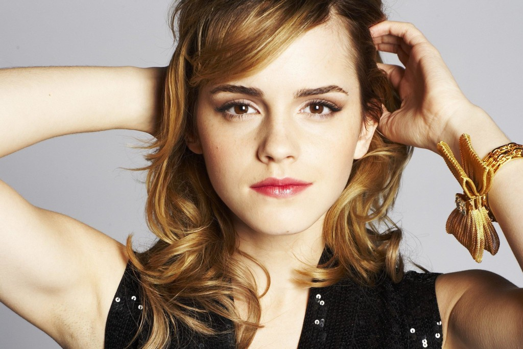 emma watson beautiful hair style with cute face mobile hd free desktop background photo