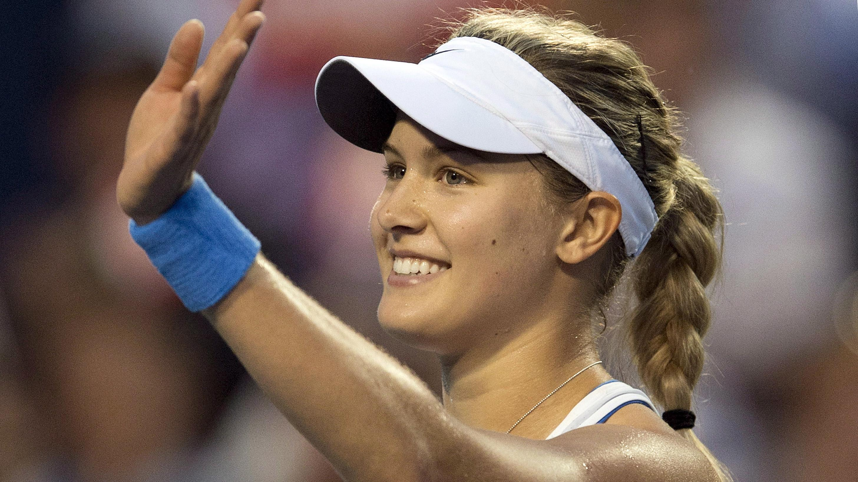 Hd Eugenie Bouchard Saying Bye Bye To Audience Still Free Background Mobile Download Photo