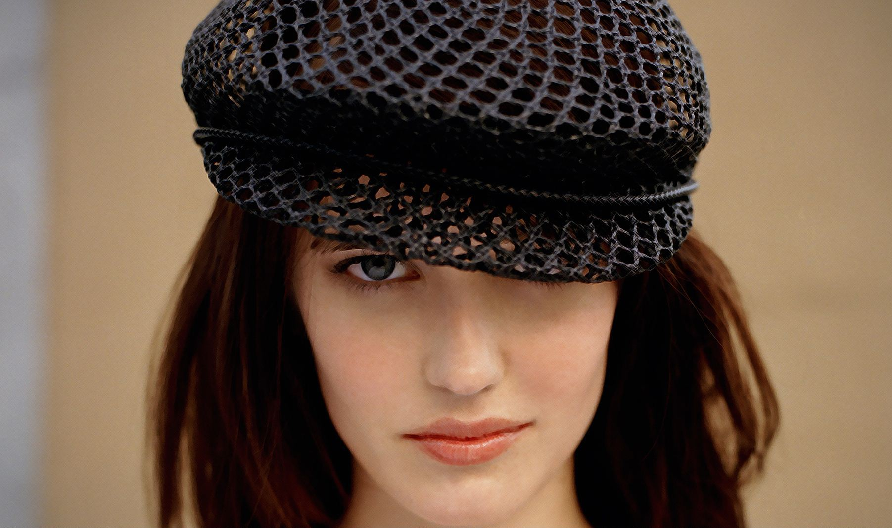 amazing eva green fantastic eye and face pose with cap style still hd free mobile background desktop images