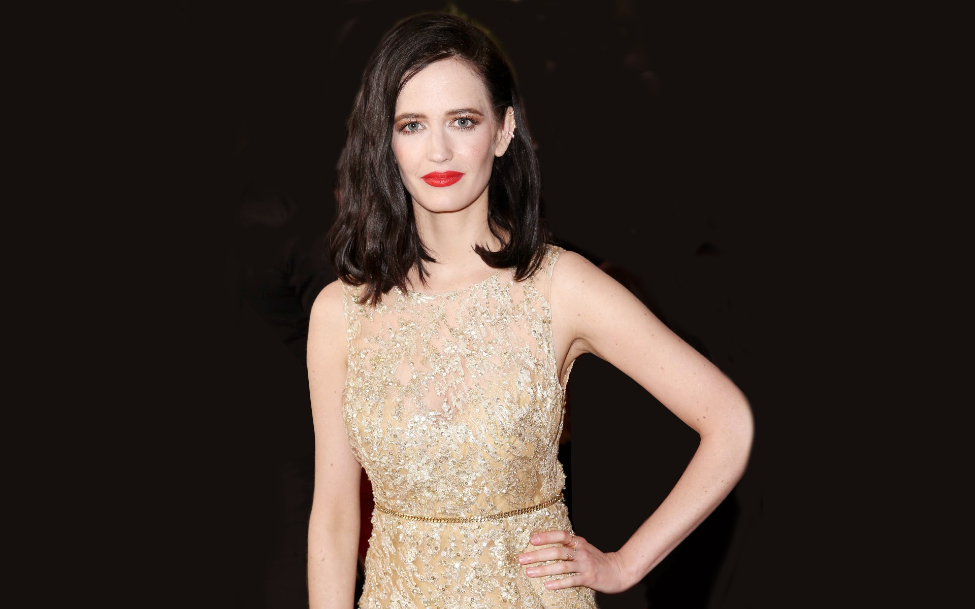 download eva green beautigul face with red lip stick pose still mobile background hd pictures free