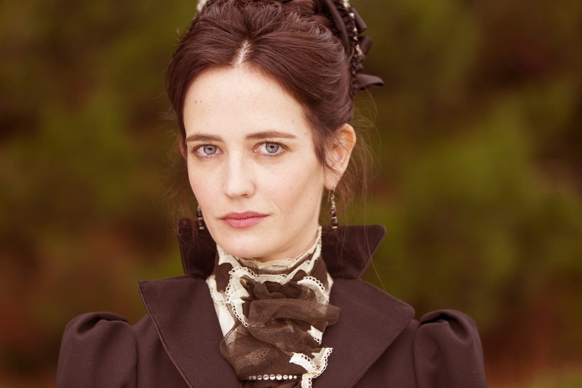 Fantastic Eva Green Full Cover Dress Beauty Face Look Still Desktop Free Mobile Background Images Hd