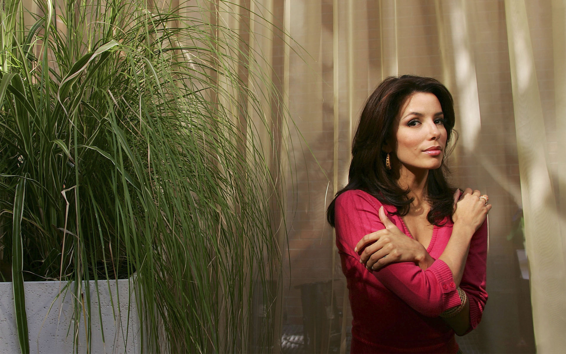 hd eva longoria amazing still with side trees pose download free mobile background images