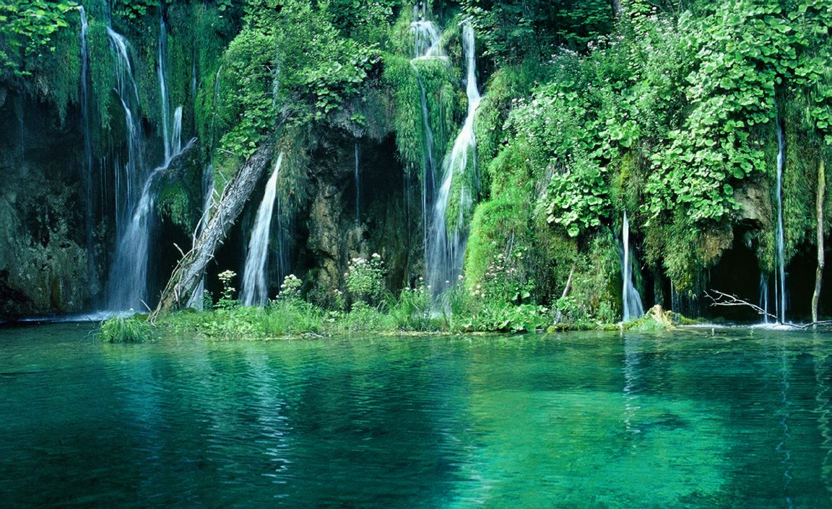 croatia green forest and waterfall images widescreen images