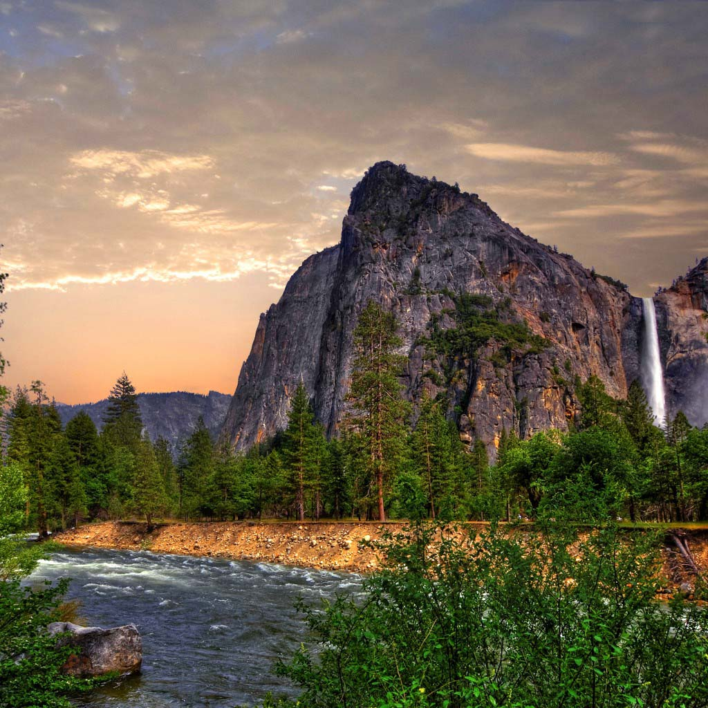 yosemite 4k wallpapers forest waterfall mountains free pic