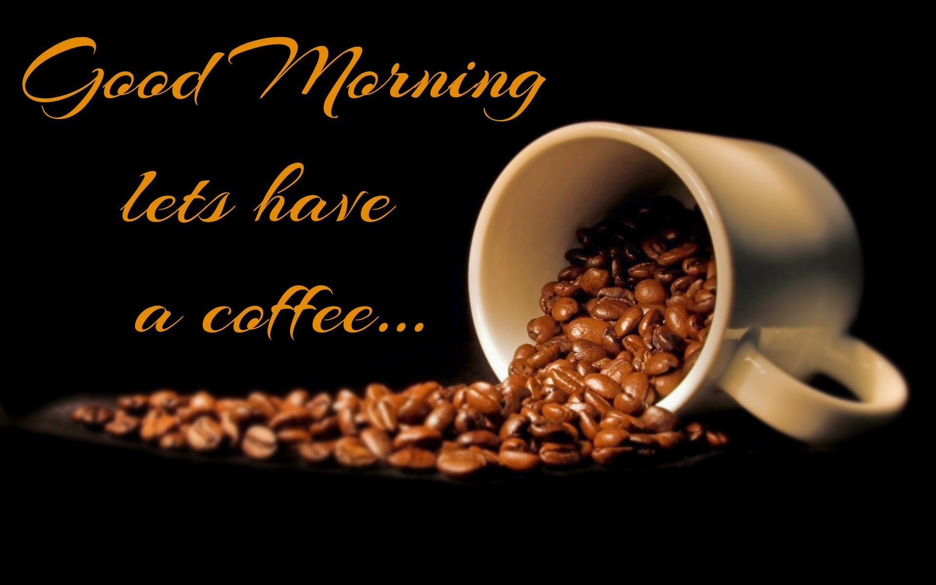 hd download good morning with coffee wallpaper