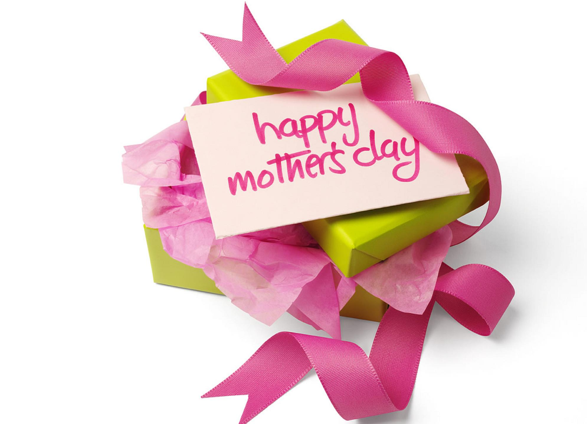 happy mothers day greeting photos with gift desktop image