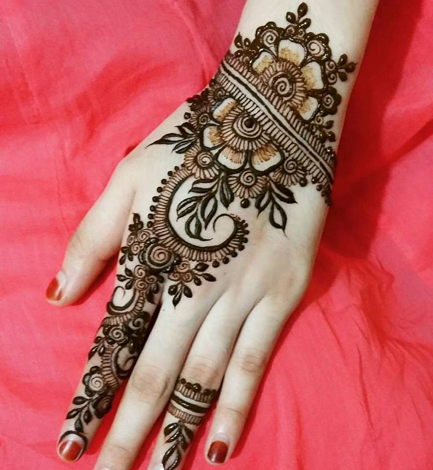 Beautiful Simple Mehendi Designs Images Picture Photos