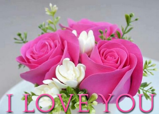 Fantastic Pink Roses With Love You Images